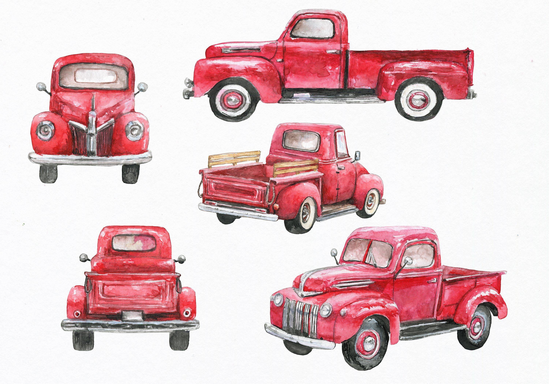 25++ Vintage pickup truck clipart ideas