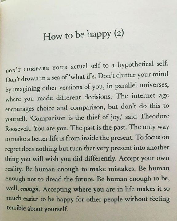 Quotes 'nd Notes — How to be happy.
