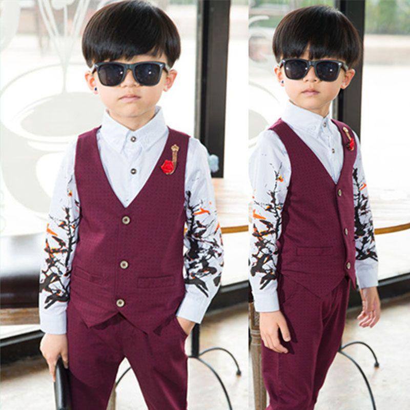 Baby boy clothing suit 2017 new European boy small dress