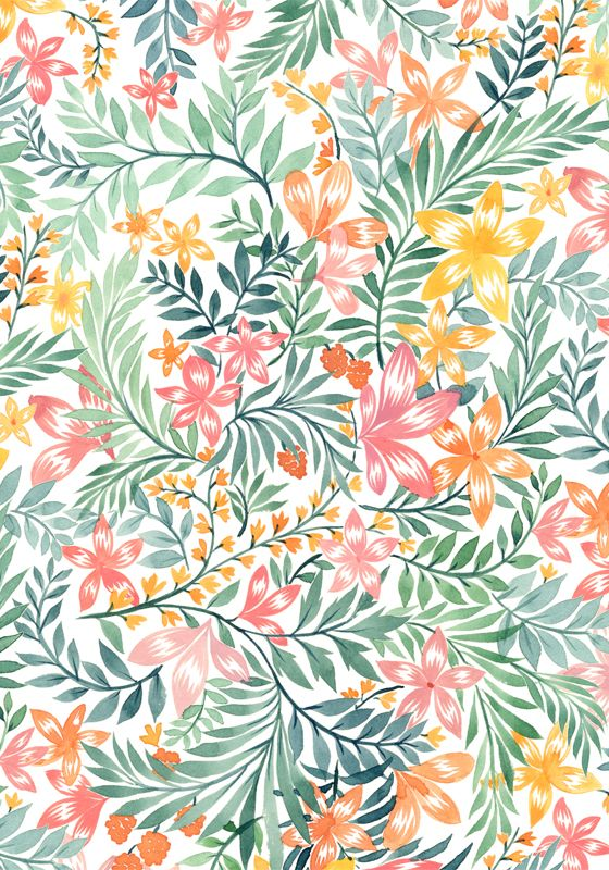 Vikki Chu Watercolor Floral Prints Floral Watercolor