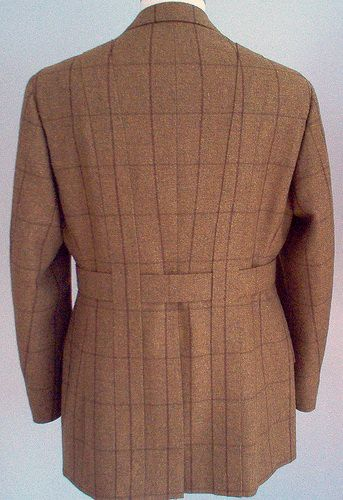 Classic Back with Laid on Pleats - from history of the Norfolk jacket  article