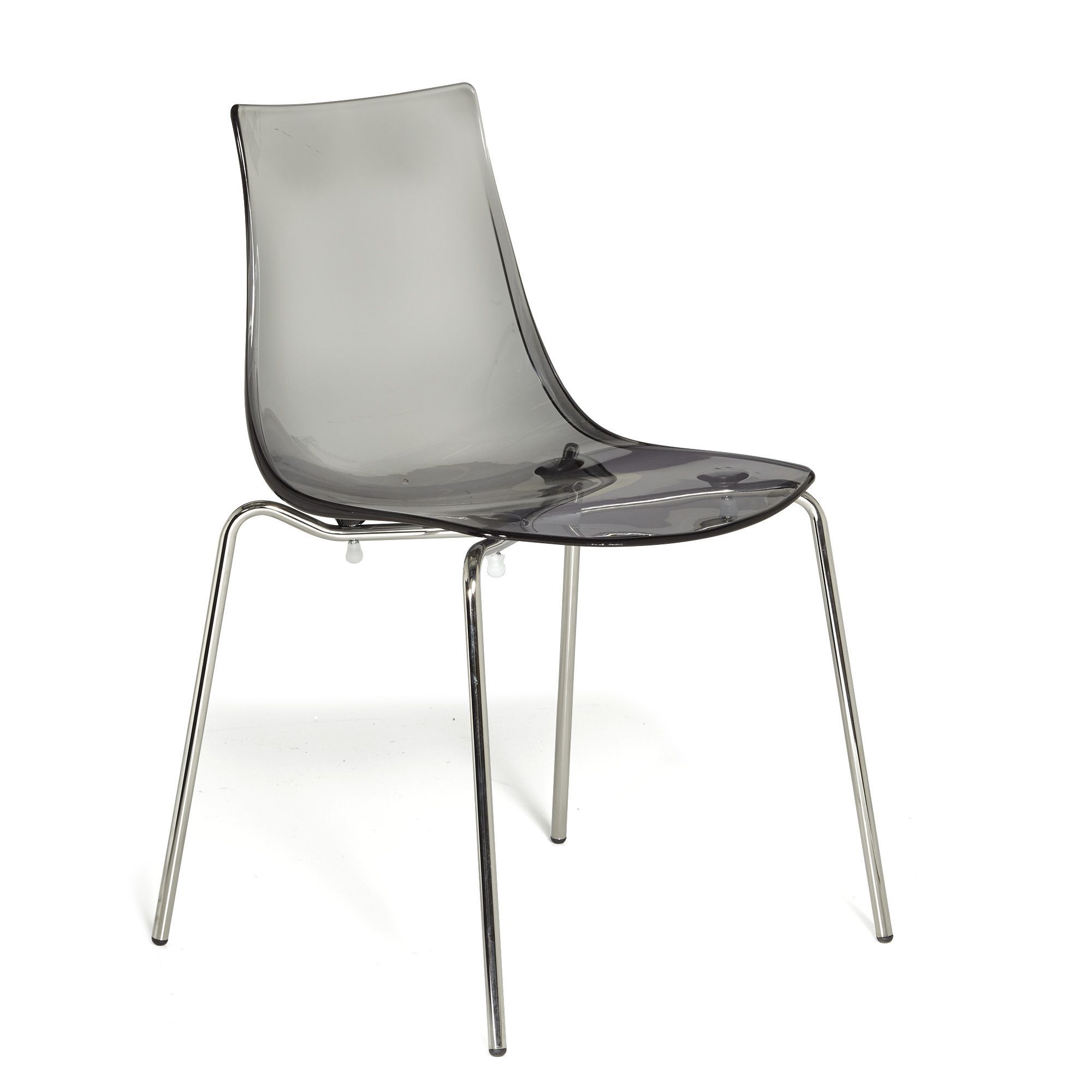 Chaise Empilable Transparente Gris Fum Transparent