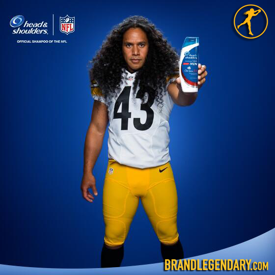 14 Troy Polamalu Rc Troy Polamalu Head And Shoulders For Men New Commercials In Hd Troy Polamalu Head Shoulders Steeler Nation