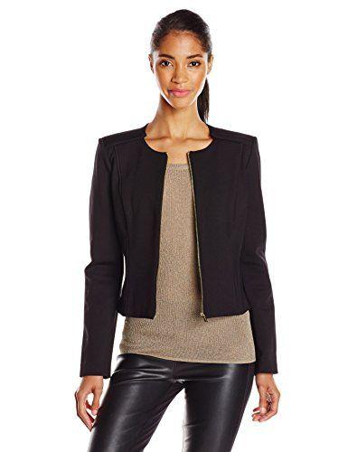 Calvin Klein Women s Zip Front Suit Jacket  67e8dafee