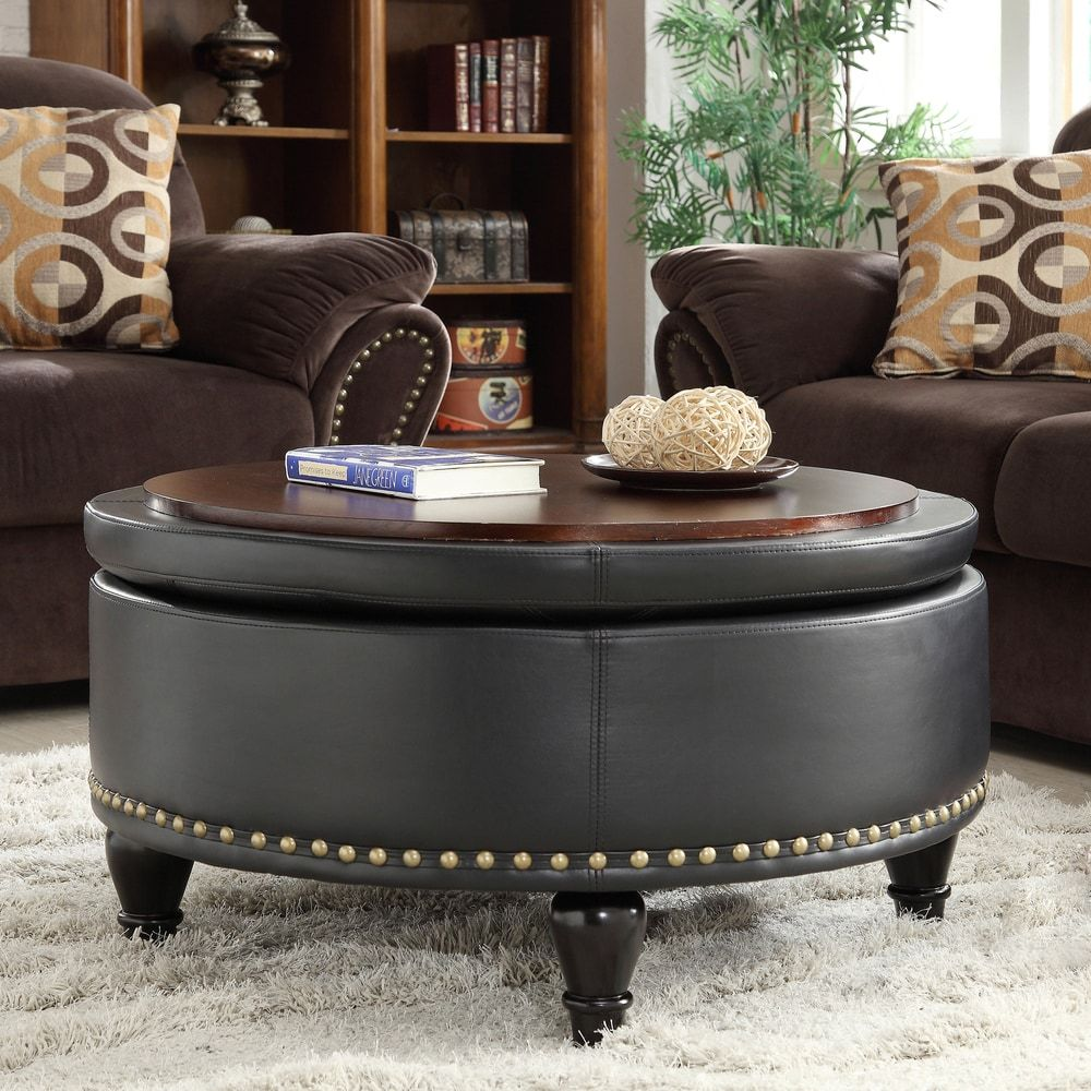 Overstock Com Online Shopping Bedding Furniture Electronics Jewelry Clothing More In 2020 Round Storage Ottoman Leather Storage Ottoman Storage Ottoman #ottoman #coffee #table #living #room