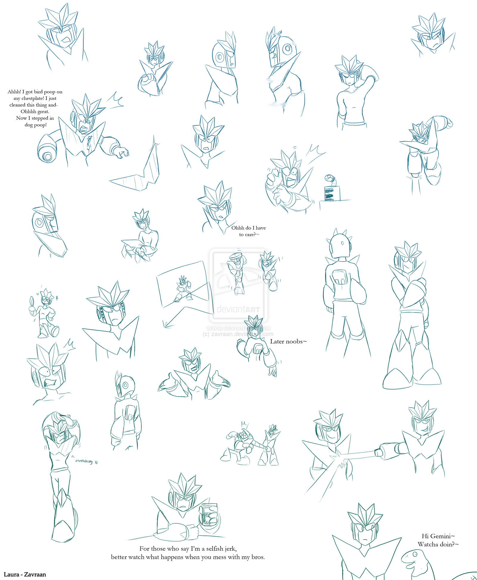Geminiman sketches 2 by zavraan.deviantart.com on @deviantART