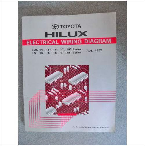 toyota hiace electrical wiring workshop manual 1997 ewd307f on ebid rh pinterest ca Toyota Hiace Minibus 2016 Toyota Hiace Van