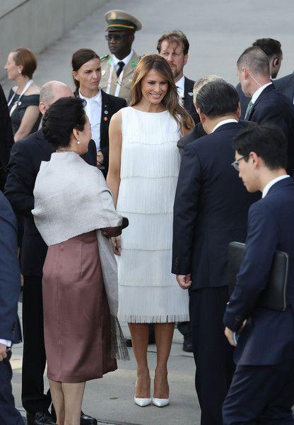 Melania Trump Photos Photos G20 Nations Hold Hamburg Summit First Lady Melania Trump First Lady Melania Trump Fashion