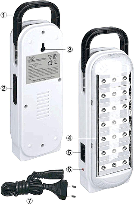 DP LED 20 LED Rechargable Light at rs 600 only Led