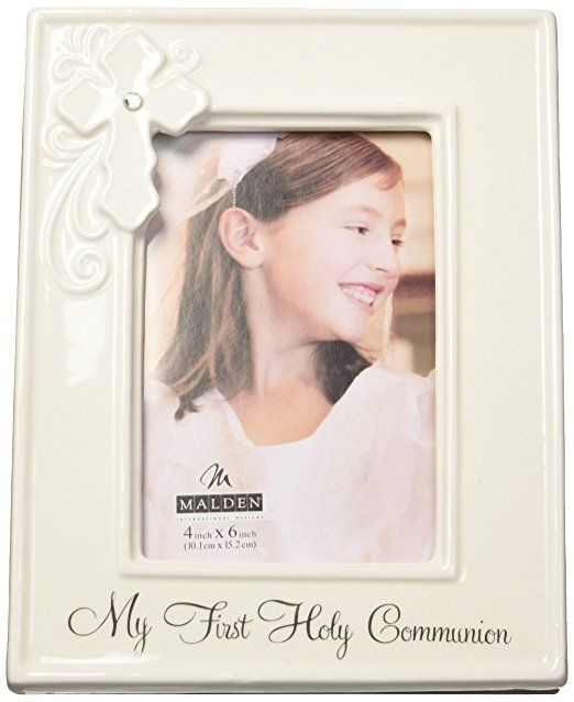 Amazoncom Malden Ceramic Milestone Picture Frame My First Holy