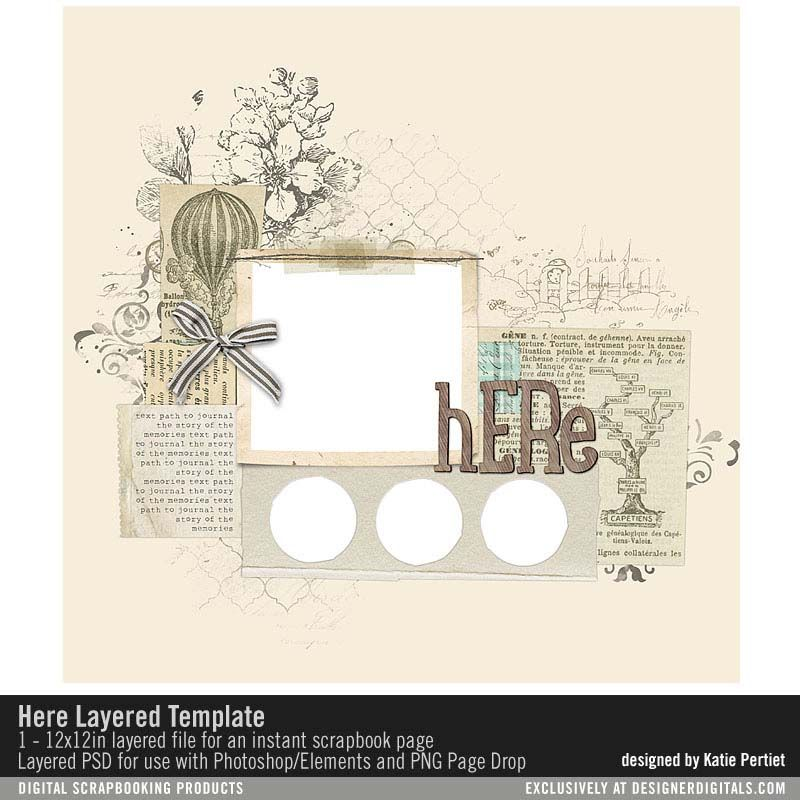 Here Layered Template- Katie Pertiet - PSE/PS Templates- LT921393 ...