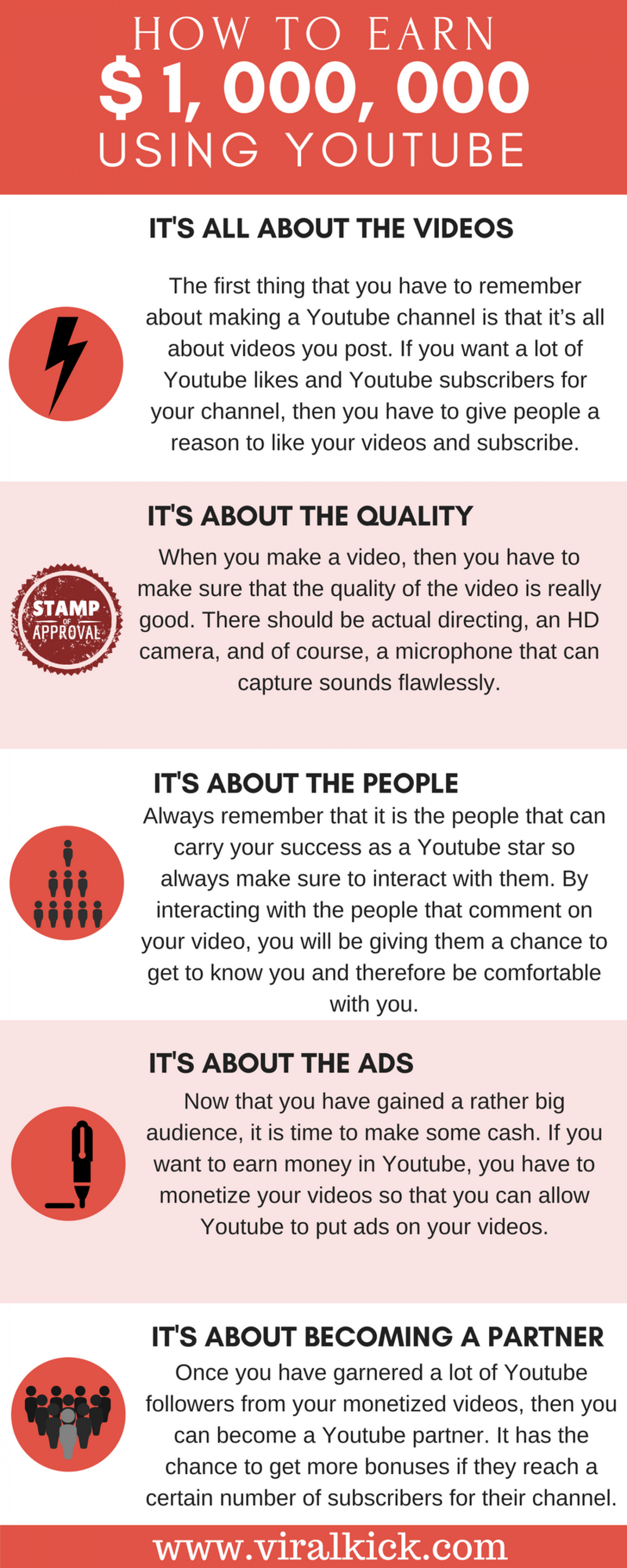 How To Ear 1 000 000 Using Youtube Infographic Youtube Earn