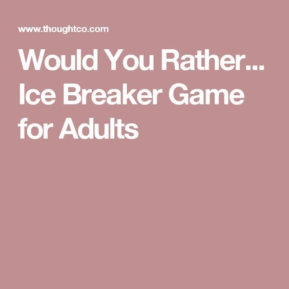 parties icebreakers birthday for adult