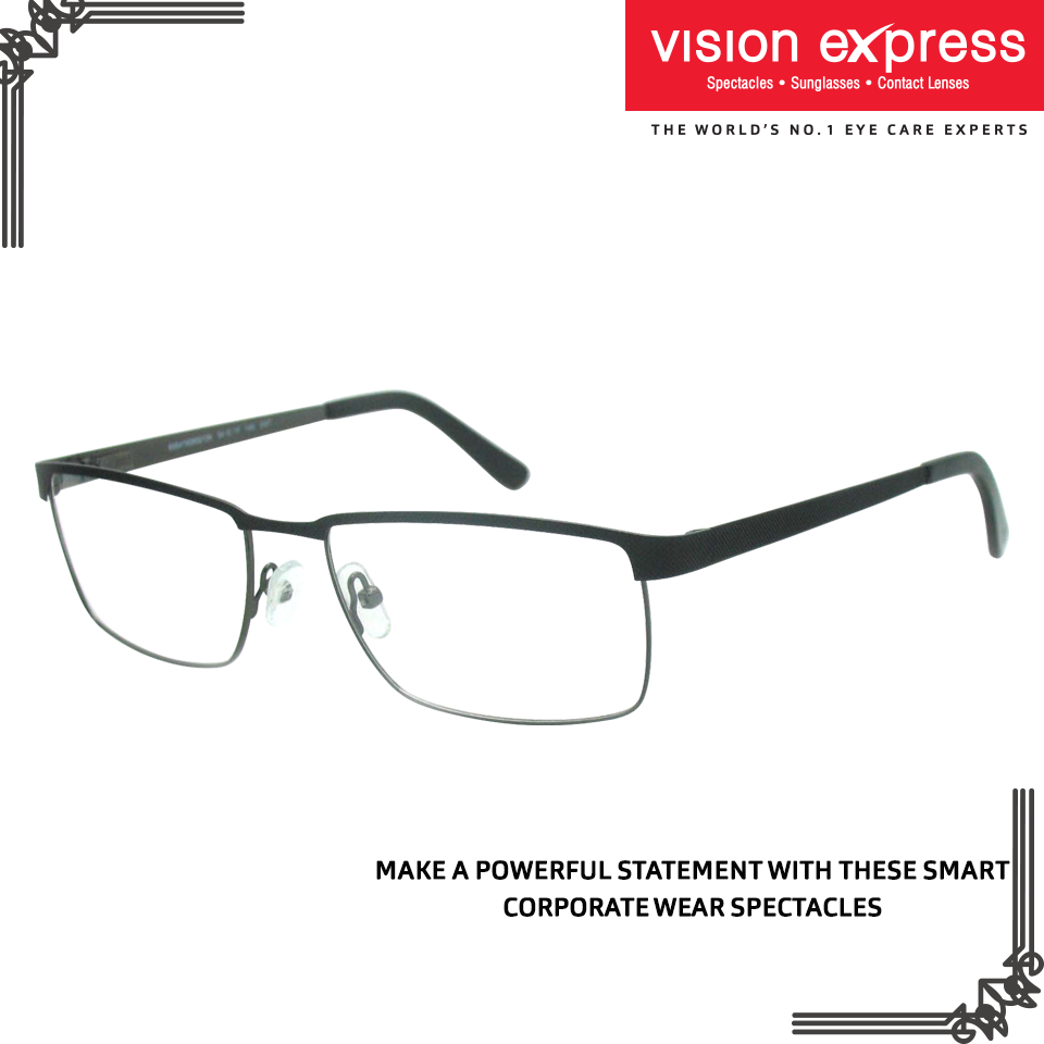 e7fc9c98949 Slip on these spectacle frames on your way to the meeting to make a  powerful statement. Model - VX GV JULIUS JUAM30 BG.54  MensSpectacles   elegant ...