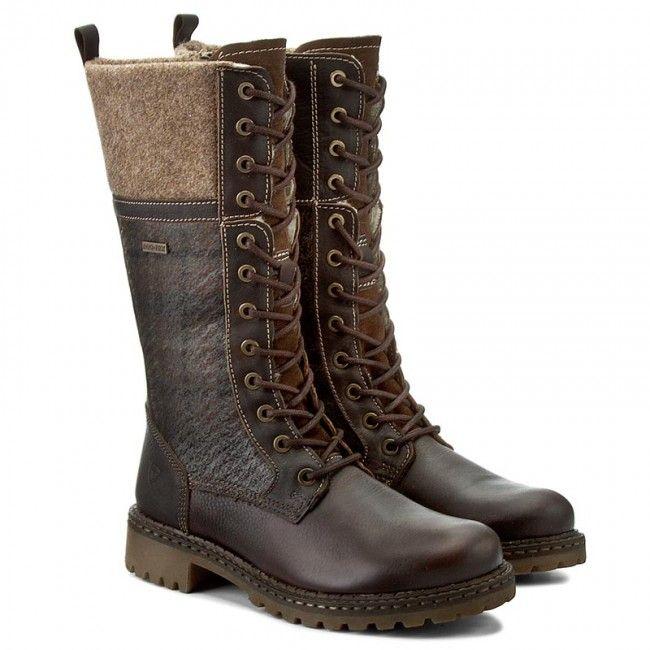Kozaki Tamaris 1 26431 27 Mocca Comb 303 Tamaris Boots Combat Boots