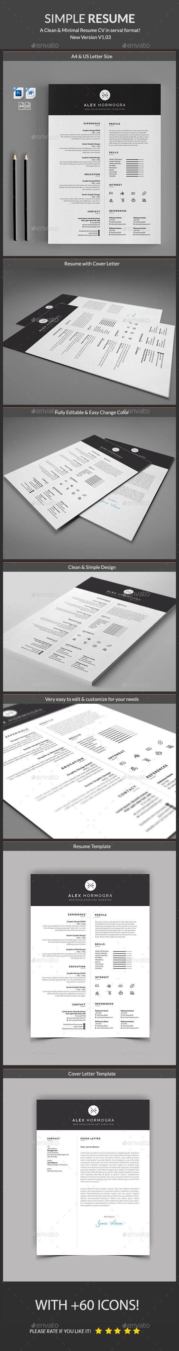 Resume Template PSD, MS Word. Download here: https://graphicriver ...