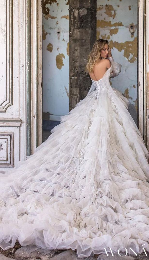 Wona Wedding Dresses And Evening Gowns 2020 Belle The Magazine In 2020 Dreamy Wedding Dress Bridal Wedding Dresses Wedding Dresses