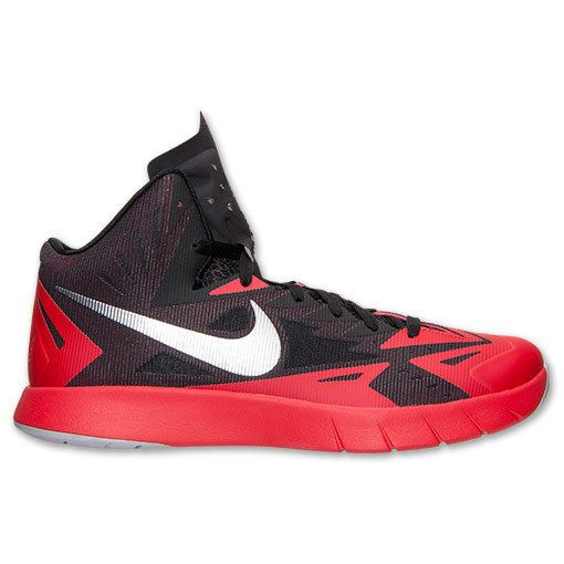 eeb65447d992 NEW NIKE LUNAR HYPERQUICKNESS Basketball MENS Black Red 110 NIB .