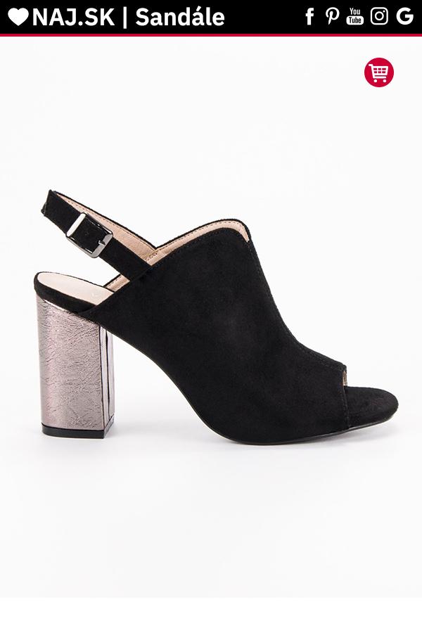 ca27584d6727 Čierne sandále na stĺpiku VINCEZA in 2019
