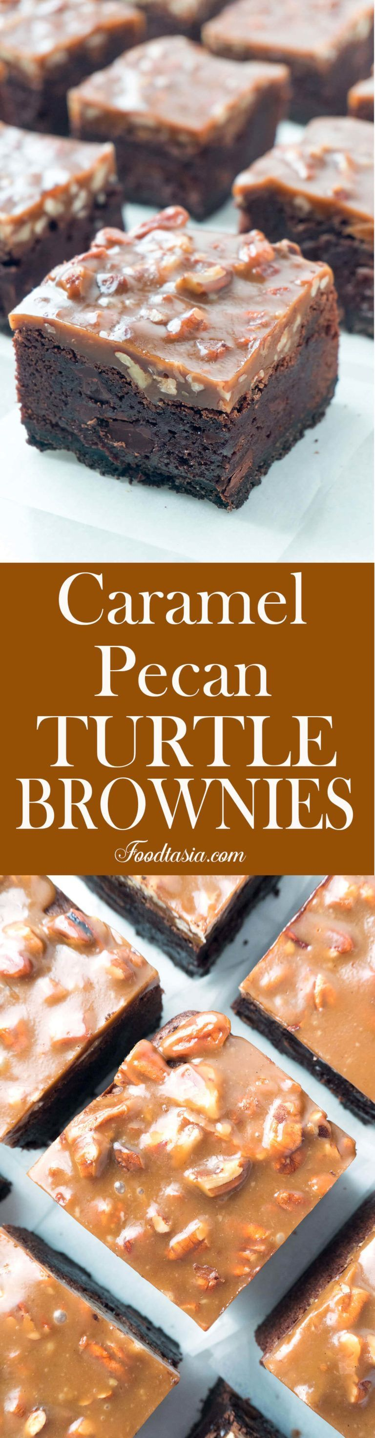 Fudgy Caramel Pecan Turtle Brownies #turtlebrownies Triple-layer Fudgy Caramel Pecan Turtle Brownies - a dense, fudgy brownie on top of an Oreo cookie crust topped with a chewy caramel and pecan topping. #turtlebrownies Fudgy Caramel Pecan Turtle Brownies #turtlebrownies Triple-layer Fudgy Caramel Pecan Turtle Brownies - a dense, fudgy brownie on top of an Oreo cookie crust topped with a chewy caramel and pecan topping. #turtlebrownies