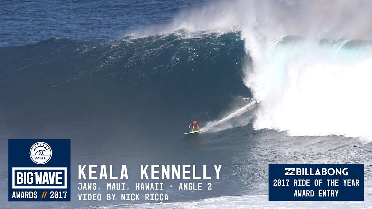 Keala Kennelly at Jaws 2 - 2017 Billabong Ride of the Year Entry - WSL B...