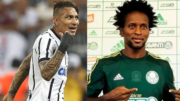 El Corinthians, con el peruano Paolo Guerrero desde el arranque, se enfrentará este domingo al Palmeiras en el estadio Allianz Parque por el Paulistao (2:00 pm. / ESPN) en el duelos más esperado de esta jornada. Febrero 08, 2015.