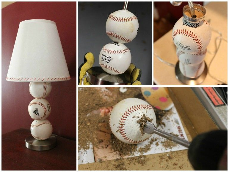 Perfect Cheap Gift For Baseball Lovers Diy Baseball Table Lamp