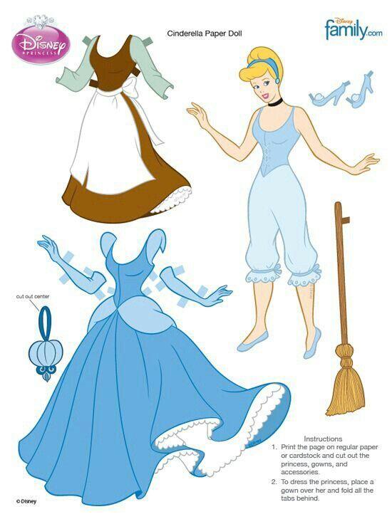 Cenicienta DollsDolls Disney Paper 2Cumpleaños Y 3Rj54AL