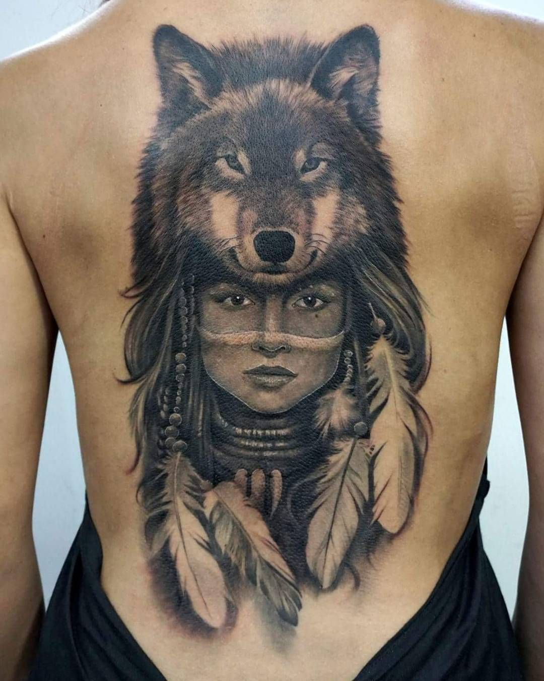 Tattoo Sleeve Women Wolf Native American 68 Ideas Native Indian Tattoos Indian Women Tattoo Indian Tattoo