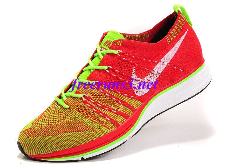 130bd95c447ca F78l1x Nike Flyknit Trainer Sport Red Volt Electric Green 532984 631 ...