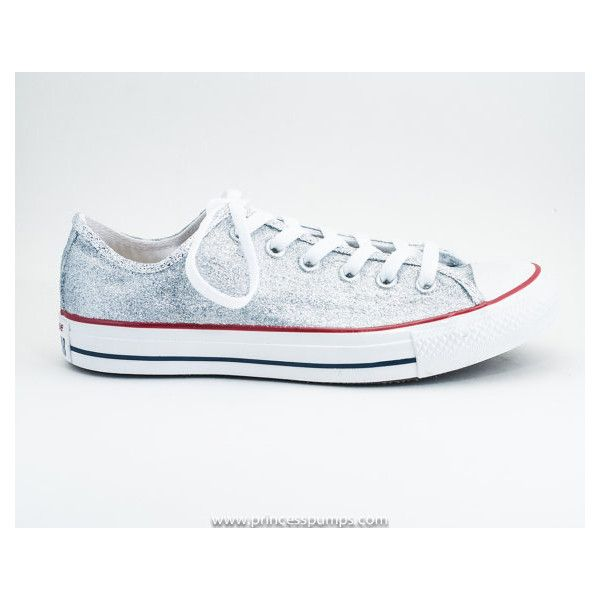 1300c3b5bc9 Custom Create Your Own Color Glitter Canvas Converse All Star Low Top...  ( 120) ❤ liked on Polyvore featuring shoes