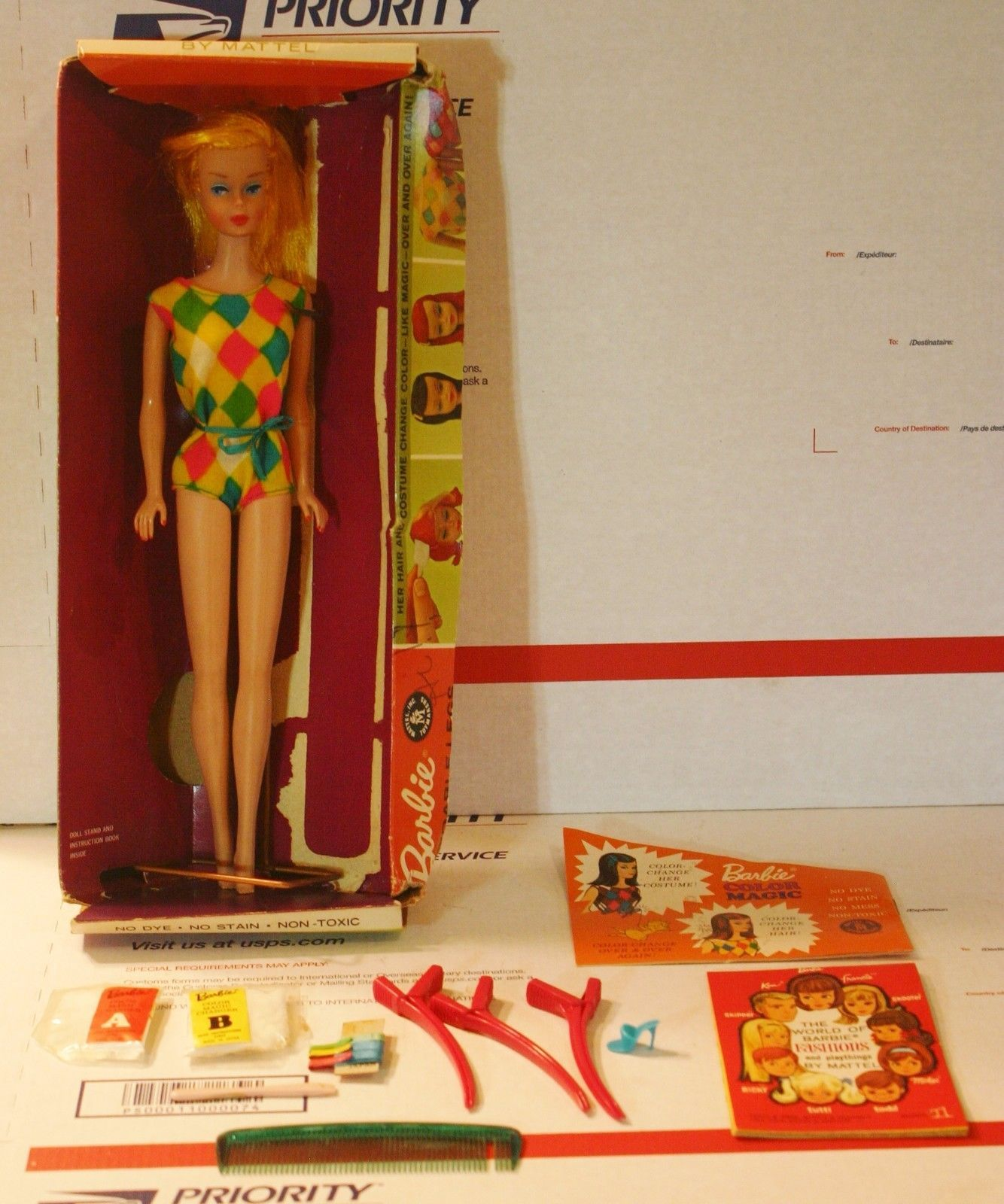 Rare Original Vintage 1958 Color Magic Barbie With Box Stand And Accessories  https://t.co/mGtnXeXkZ1 https://t.co/NlxTW6cvpL