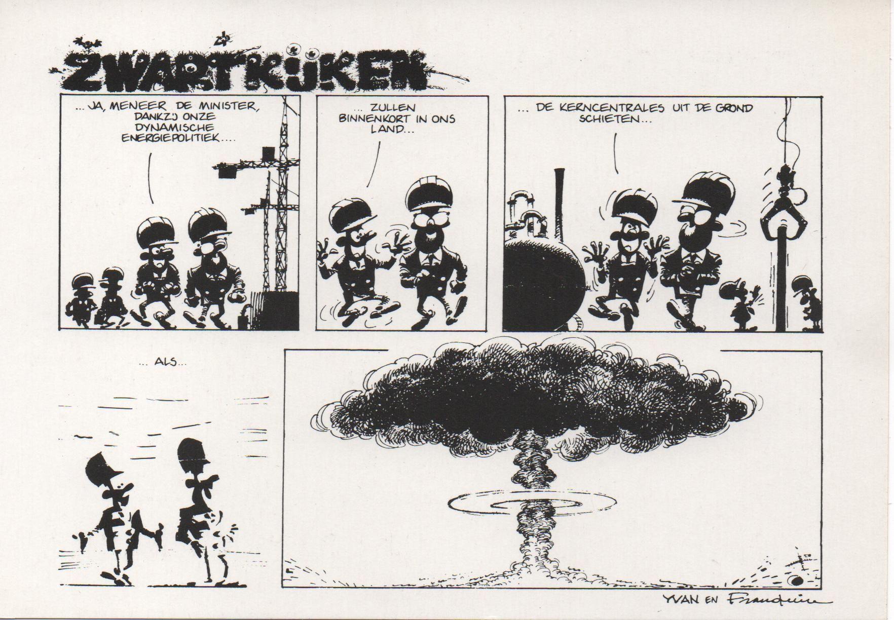 Zwartkijken postkaart zwartkijken franquin rhaalovely tekoop