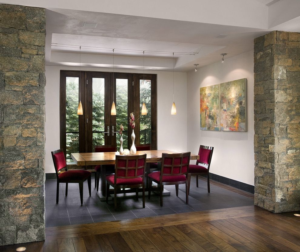 great contemporary dining rooms with combination of light wood