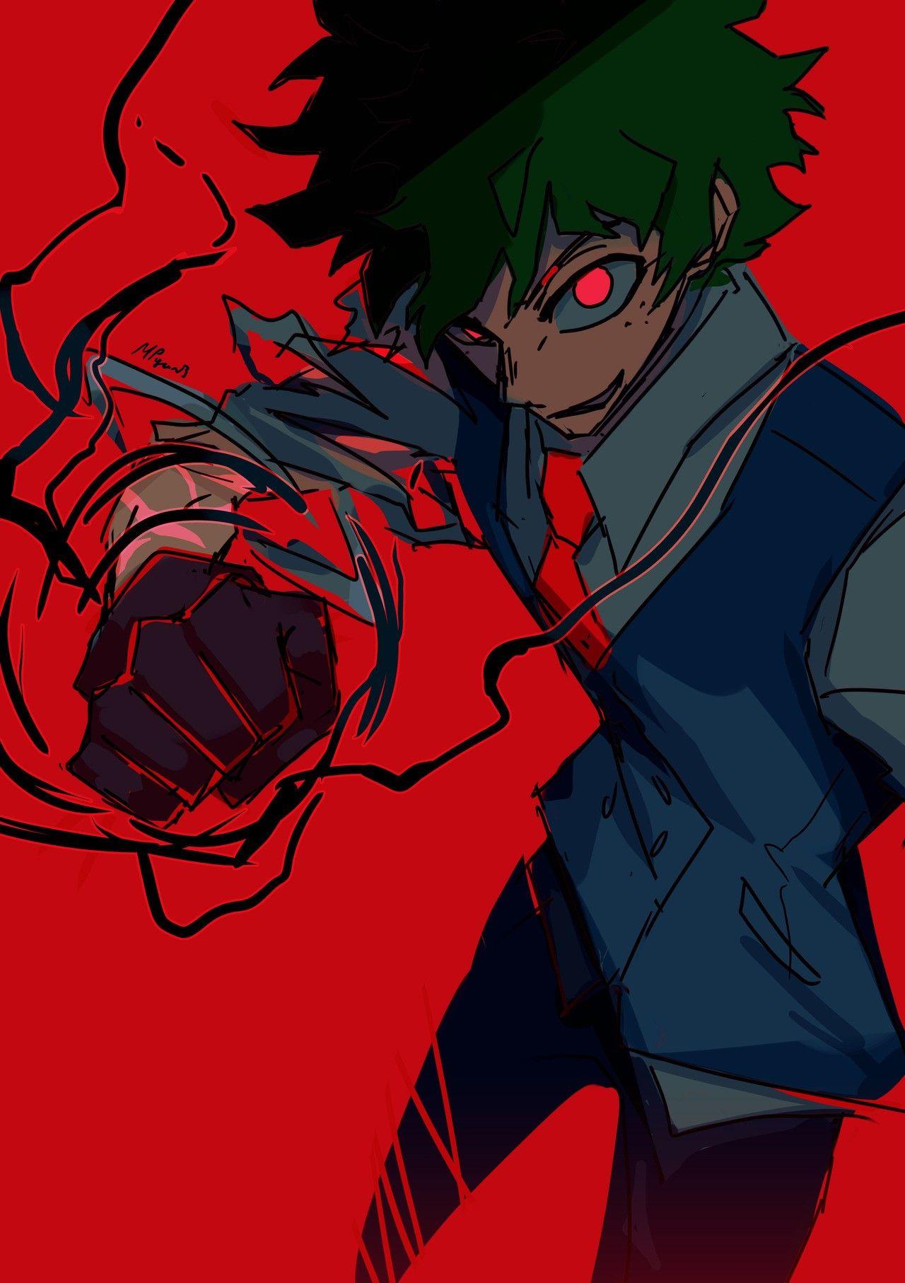 Midoriya Izuku Villain Boku No Hero Academia Villain Deku Hero Cool Drawings