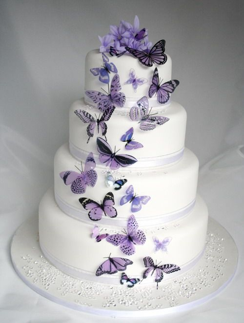 20 Mauve Butterflies For Cakes And Decorations Cakes Flowers In