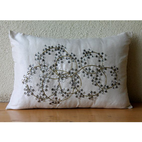 Decorative Oblong Lumbar Rectangle Throw Pillow Cover Accent Etsy Throw Pillows Silk Pillow Cover Pillows