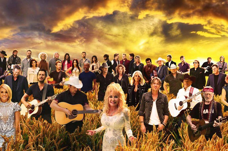 Countrys biggest stars unite in forever country music