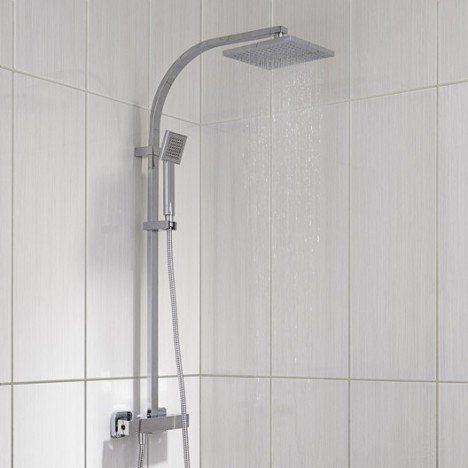 colonne de douche avec robinetterie sensea luka shower heads and faucets shower heads. Black Bedroom Furniture Sets. Home Design Ideas