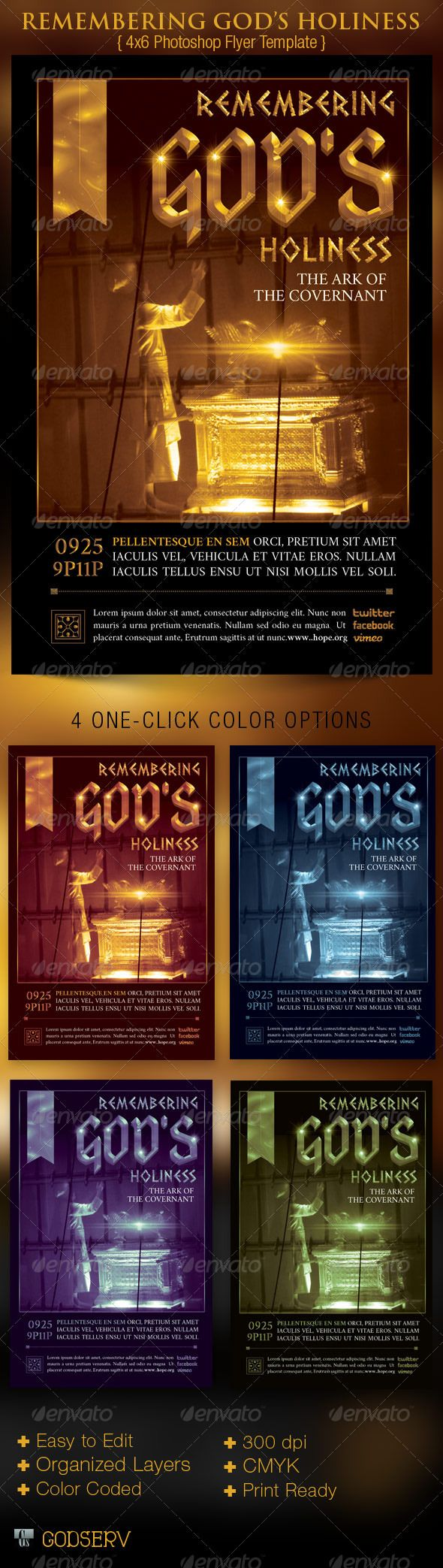 Pray For The City Church Flyer Template | Flyer Template, Churches