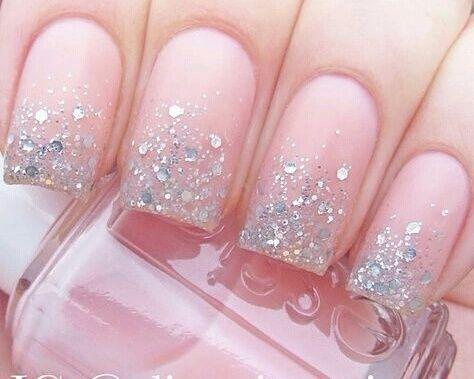 Sparkly Pink Manicure nails nail pink nails nail art manicure nail ideas nail designs