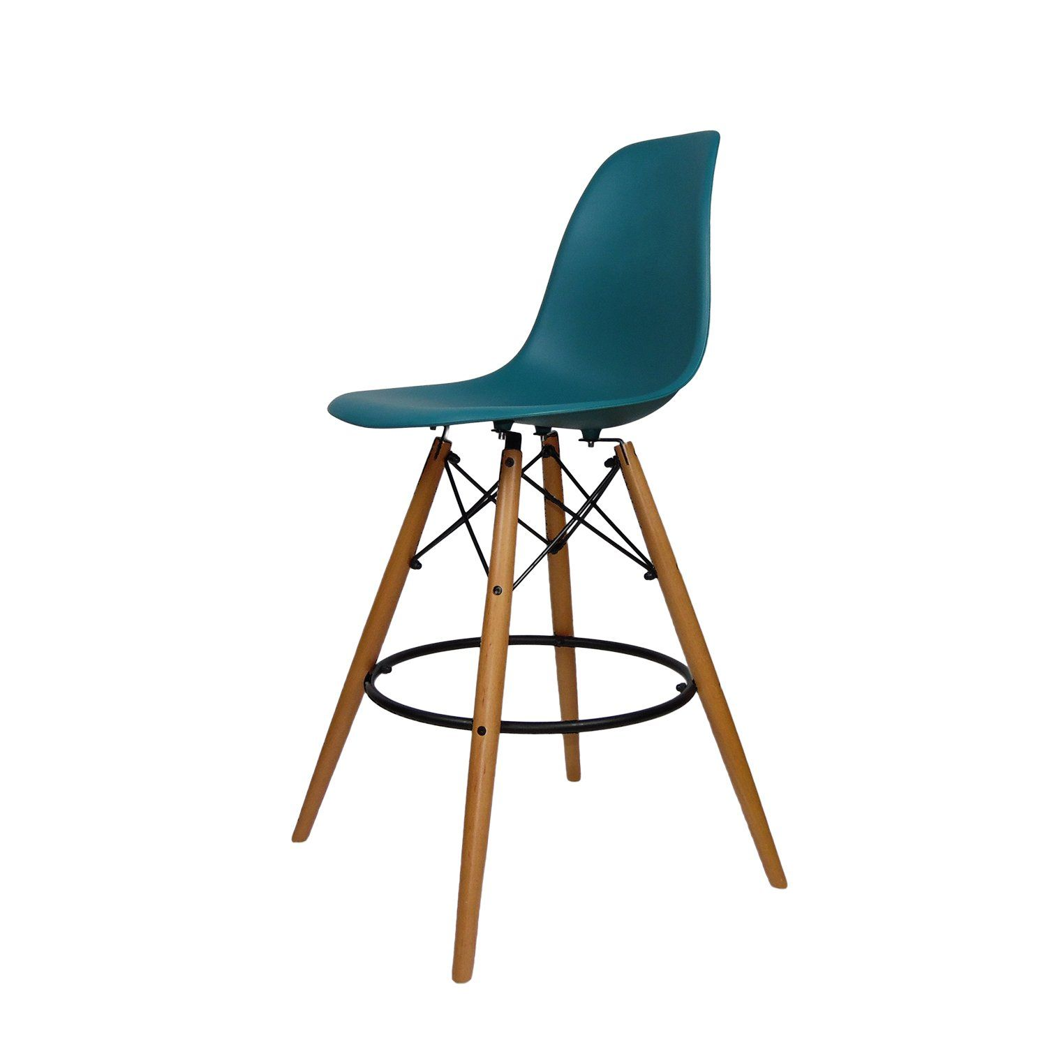 Mid Century Modern Eames Dsw Style Counter Bar Stool With