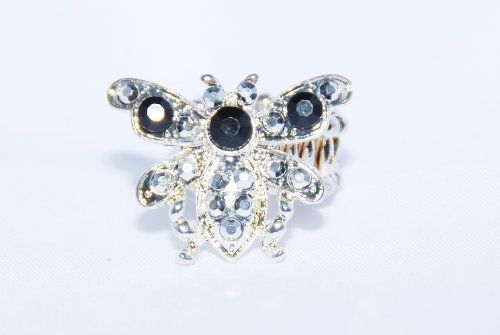 Designer Inspired Women or Teen Gold Tone Rhinestone Insect Ring with Black & Shiny Stones Value Line, http://www.amazon.com/dp/B009L90G0K/ref=cm_sw_r_pi_dp_9CpVqb0V5PWFV