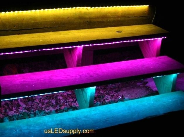 Outside stairs with waterproof rgb flexible led strip are great when house outside stairs aloadofball Gallery
