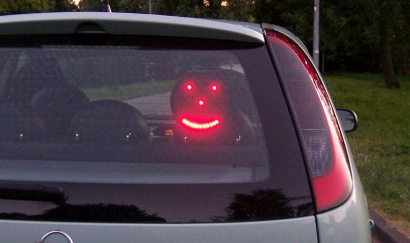 Led Car Sign And Smiley Gadget Car Signs Car Led