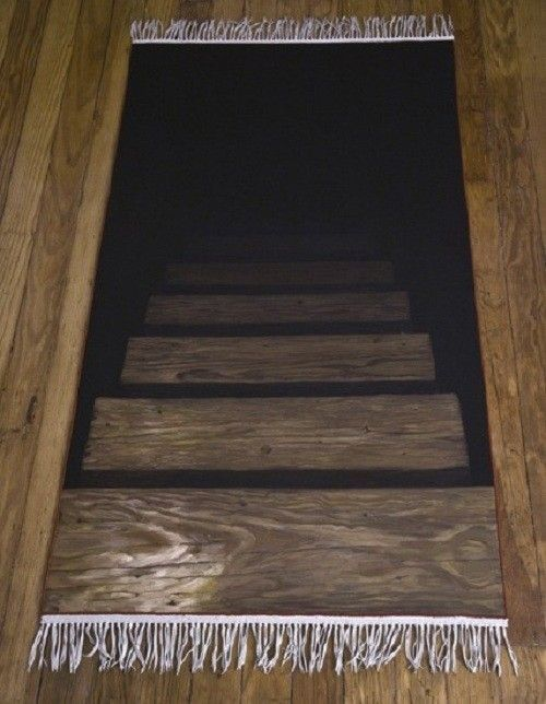 the most evil rug (neatorama) | stair rugs, stair steps and stuffing