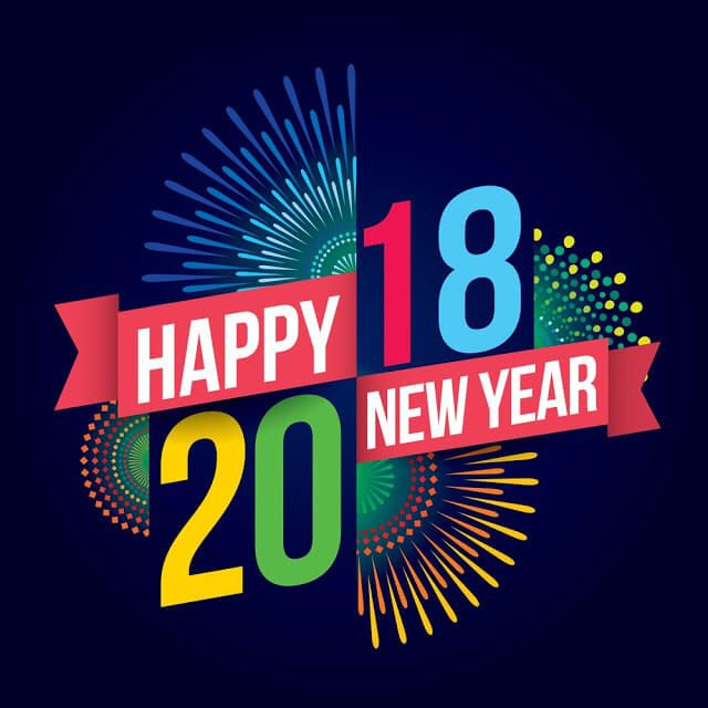 Happy New Year 2018 Wallpaper 3d