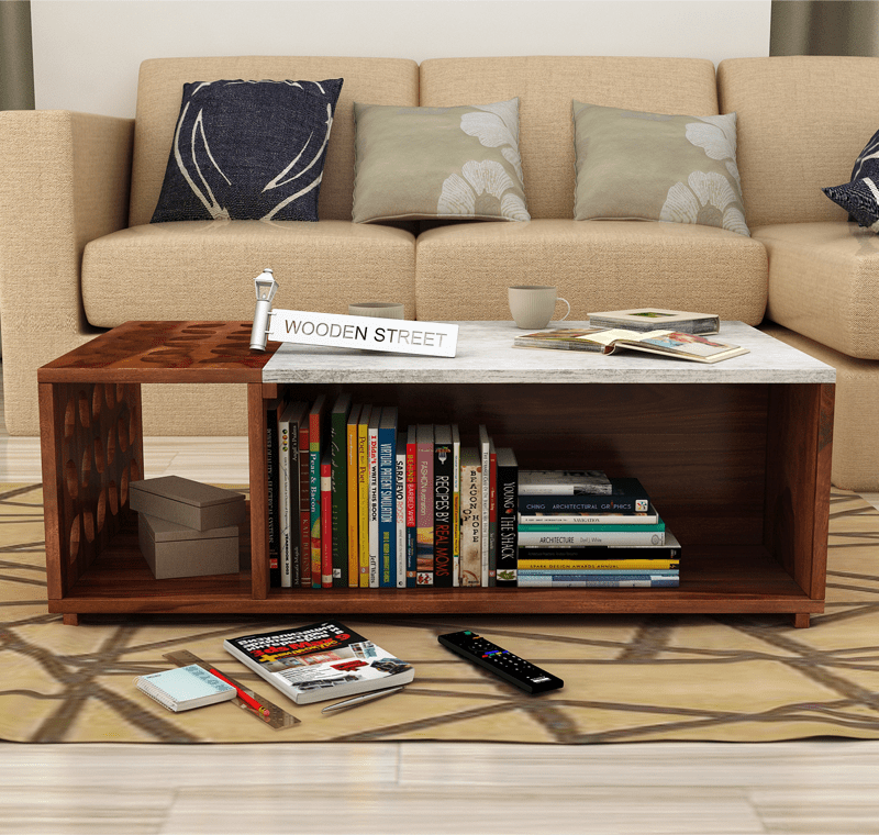 Buy Ziegler Coffee Table (Teak Finish) Online in India ...