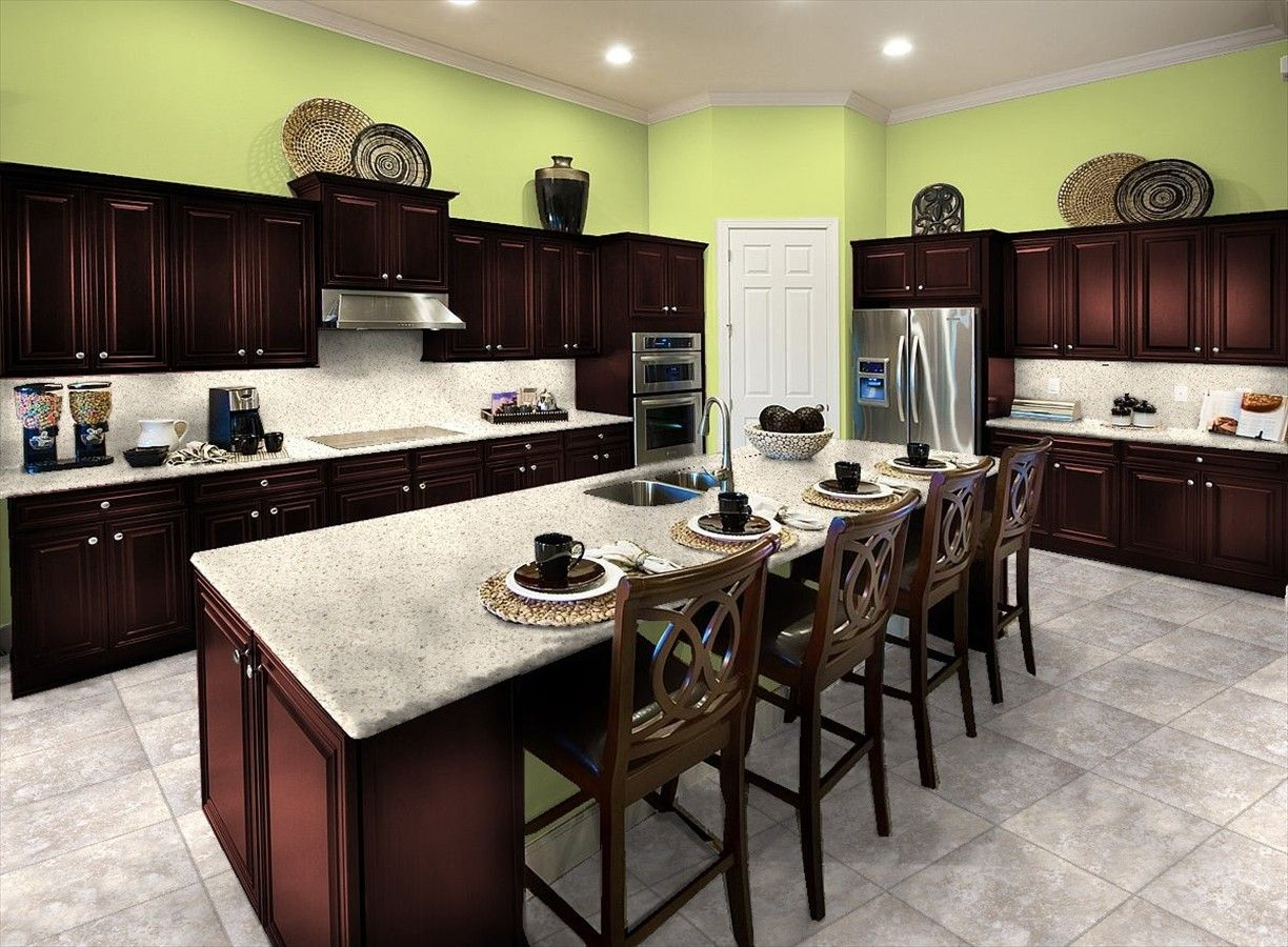 I love the wood and grey customize your own ideal kitchen bright color kitchen idea