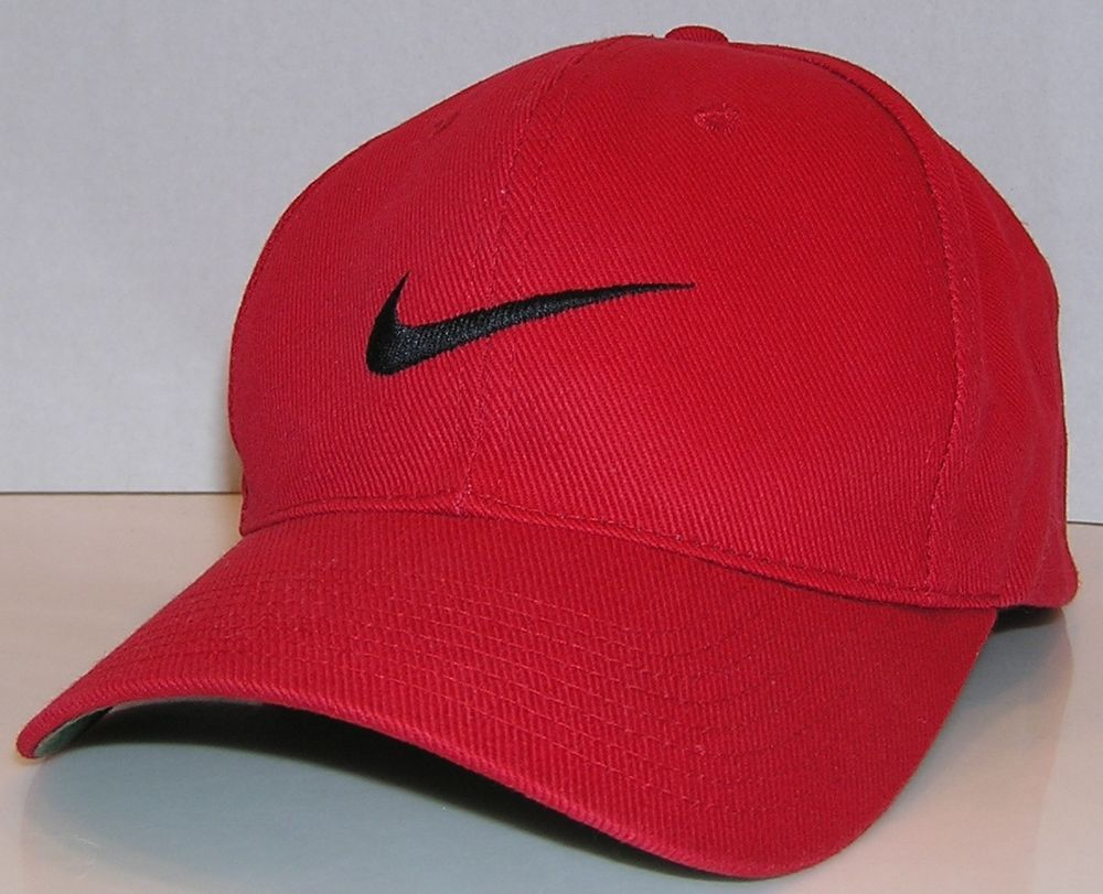 e08f28f50 Nike Vintage 90's White Tag Red Snapback Hat Tiger Woods Tennis ...